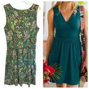 Athleta Teal Paisley Knit Jura Dress ~ M